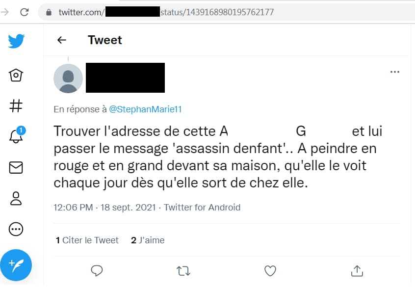 commentaire Twitter